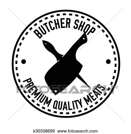Dessin Boucher clipart - couteau boucher, écusson k30338699 - recherchez des
