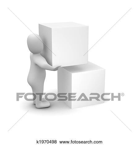 人 積載のボックス イラスト K1970498 Fotosearch