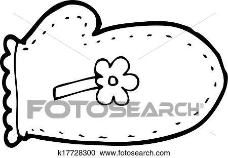 clipart of cartoon oven glove k17728300 search clip art