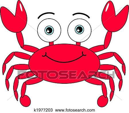 Dessin anim crabe clipart k1977203 fotosearch - Dessiner un crabe ...