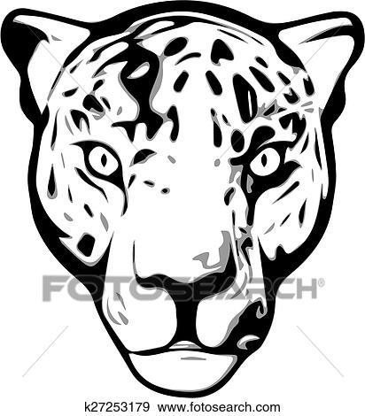 Clipart t te jaguar k27253179 recherchez des cliparts - Jaguar dessin ...