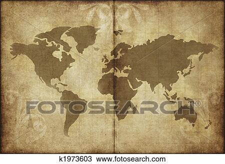 Carte Du Monde Parchemin vieux monde, carte, parchemin, papier dessin