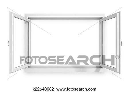 Clip Art of 3d window frame on white background k22540682 - Search ...