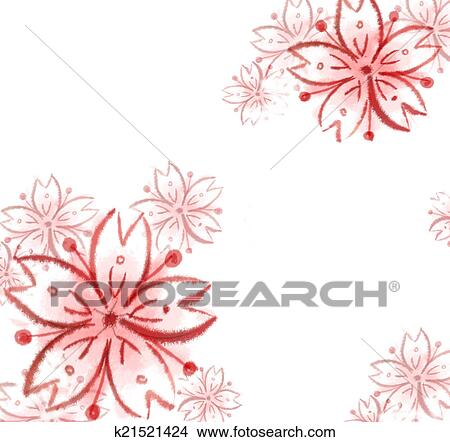 Dessins Sakura Fleur Cerise Illustration Sakura Fleur Cerise
