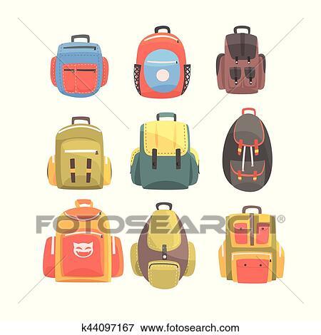 مجموعة بابا الخام كليب ارت حقيبة مدرسية Cazeres Arthurimmo Com