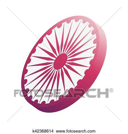 Clipart Of Ashoka Chakra Symbol K42368614 Search Clip Art
