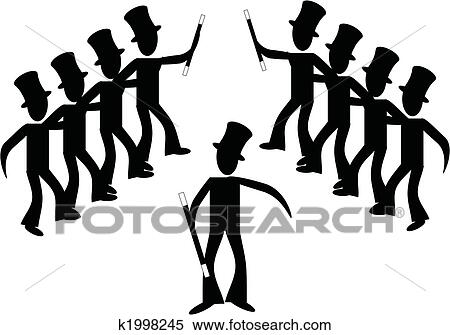 clipart of broadway stick male line dancers k1998245 search rh fotosearch com  clipart line dance