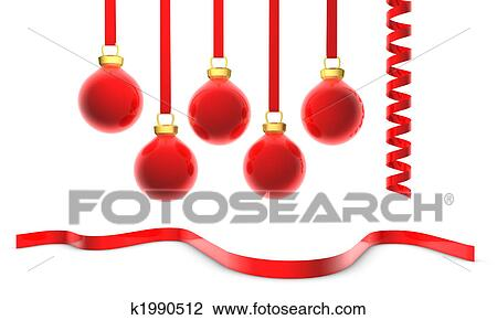 christmas ornaments drawing k1990512 fotosearch fotosearch