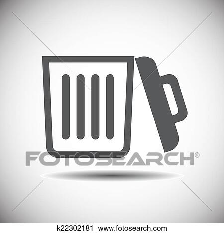 Clipart Of Recycle Bin Icon Open K22302181 Search Clip Art