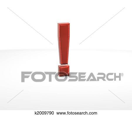 Hazır Ilüstrasyonlar ünlem Işareti K2009790 Clipart Poster