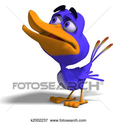 stock illustration of cartoon bird twitter k2002237 search eps