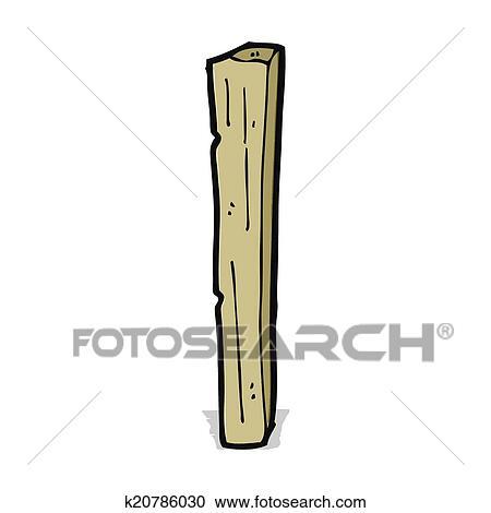 Cartoon Wooden Post Clipart