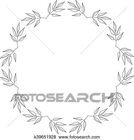 Clip Art of Elegant ornate floral design templates. Lineart vector ...