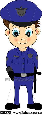 Clipart mignon dessin anim m le gendarme dans - Gendarme dessin ...