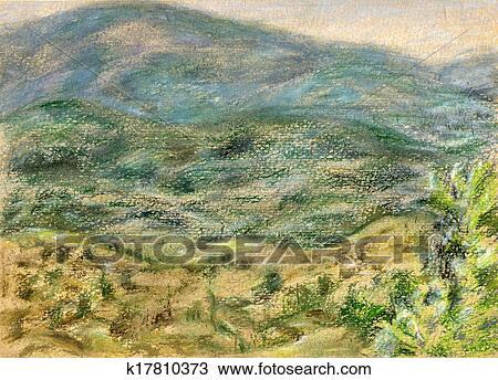 Mountain View Rhodes Drawing K17810373 Fotosearch