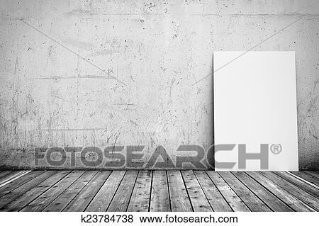 Pareti In Legno Bianco : Archivio illustrazioni bianco manifesto su parete concreta e