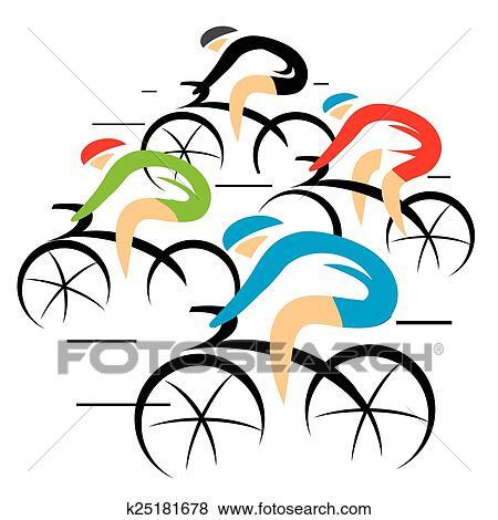Bicicletta Strada Racers Clip Art
