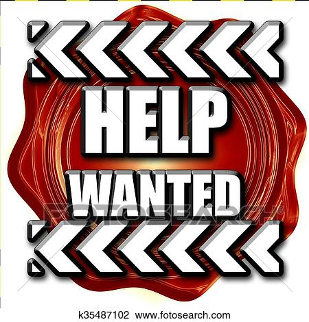 clip art of help wanted sign k35487102 search clipart rh fotosearch com wanted poster clipart free Western Wanted Poster Clip Art