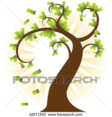 drawing of money tree k2011243 search clipart illustration fine rh fotosearch com
