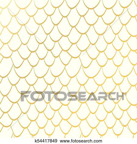Seamless Texture Scales Gold Glitter Mermaid Tail Seamless