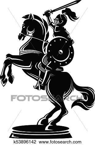 Clipart Of Warrior Horse Knight K53896142