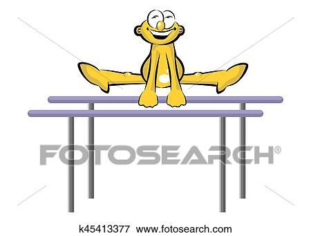 8b106b6866ed Atleta, en, barras paralelas Clip Art | k45413377 | Fotosearch