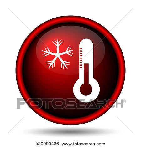 Fiocco Di Neve Con Termometro Icona Archivio Illustrazioni K20993436 Fotosearch Scopri la nostra selezione in stazioni meteo, termometri, igrometri. fotosearch