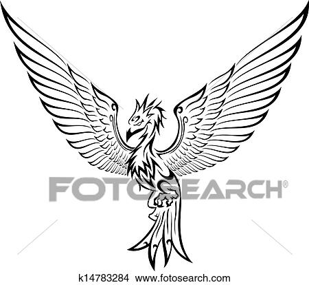 Phoenix Tattoo Clipart K14783284 Fotosearch
