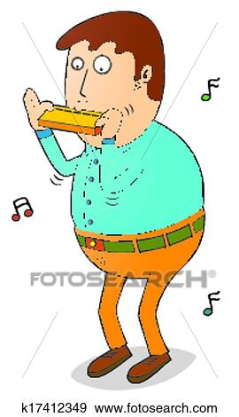 clip art of playing harmonica k17412349 search clipart rh fotosearch com harmonica player clipart harmonica clipart