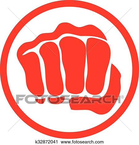 clipart of power fist mma karate boxing logo k32872041 search rh fotosearch com clipart powerpoint 2016 clipart powerpoint 2010