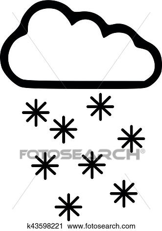 Clipart Prognose Wetter Symbol Schnee K43598221 Suche Clip