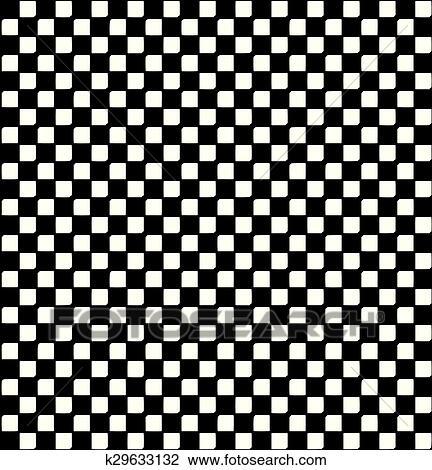 Seamless Schwarz Weiss Kariert Muster Abstrakt Hintergrund Clipart