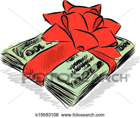 clip art soldi dollari regalo illustrazione k19593108 cerca rh fotosearch it clipart dollar clip art dollar bill image