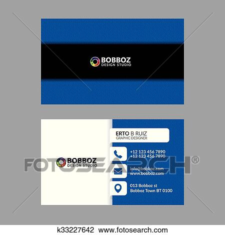 Clipart Of Business Card Template K33227642 Search Clip Art