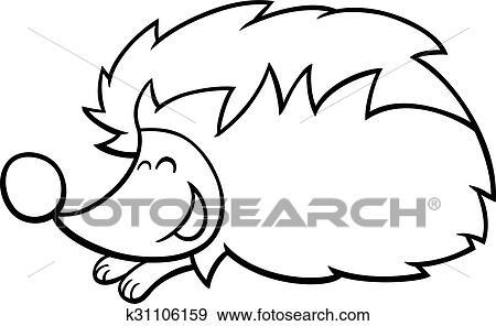 - Cartoon Hedgehog Coloring Page Clip Art K31106159 Fotosearch