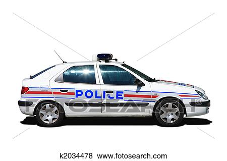 Pictures Of French Police Car K2034478 Search Stock Photos Images