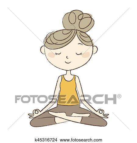Dessins Prenatal Yoga Femme Enceinte Dans Facile Pose