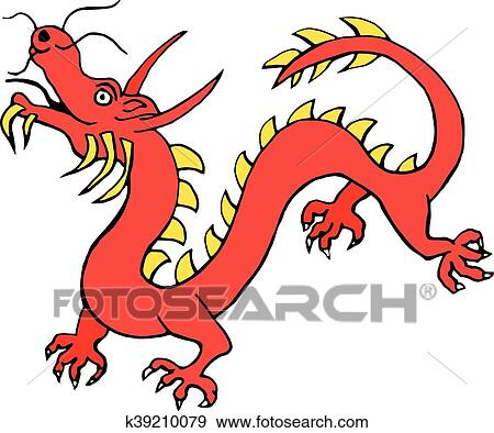 clip art of red paper dragon china zodiac symbols icon isolated on rh fotosearch com china clipart with transparent background china clipart with transparent background