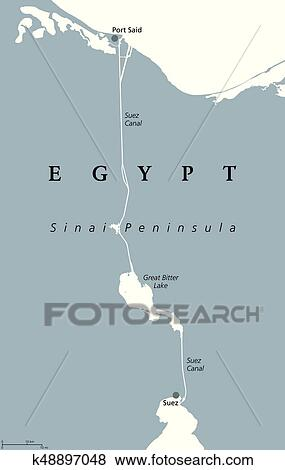 Suez C political map Clip Art | k48897048 | Fotosearch Sainai Peninsula Region Of The Red Sea Map on
