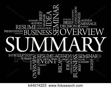 clipart of summary word cloud collage k44574223 search clip art