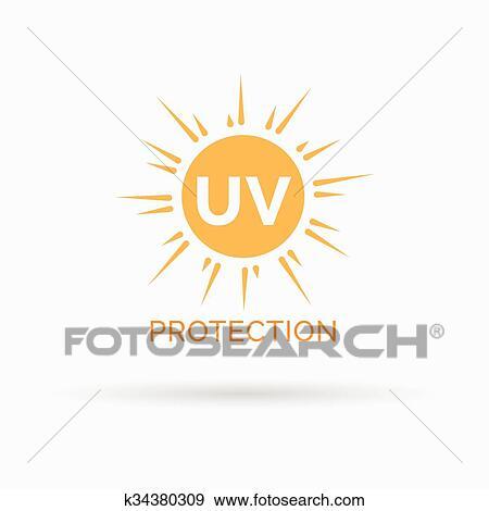 d1505bc4357090 Clipart - uv, zonnebaden bescherming, pictogram, motieven, vector, symbool.  Fotosearch