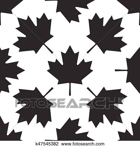 Clipart Of Canadian Maple Leaf Icon Pattern On White Background Awesome Maple Leaf Pattern