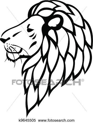 clipart leão tatuagem k9645505 busca de ilustrações clip art