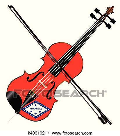 clip art of arkansas state fiddle k40310217 search clipart rh fotosearch com fiddle clipart black and white fiddle clipart black and white