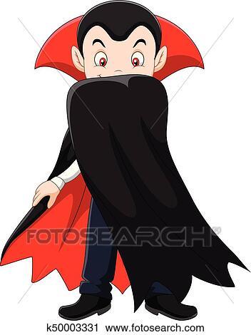 Cartone animato vampiro carattere clipart k fotosearch