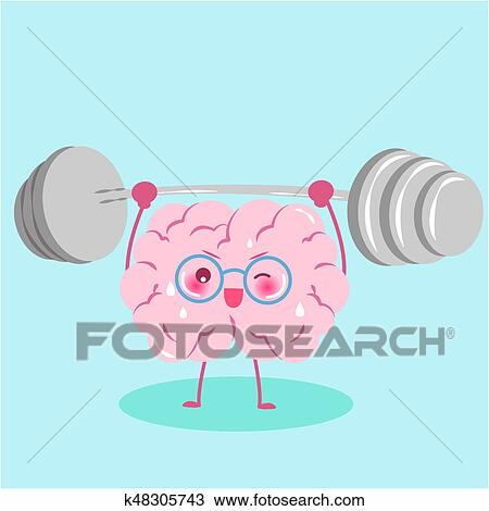 cute cartoon brain clipart k48305743 fotosearch fotosearch