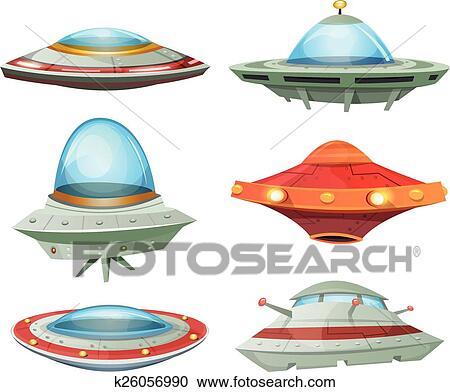 空飛ぶ円盤 宇宙船 そして Ufo Se クリップアート切り張り