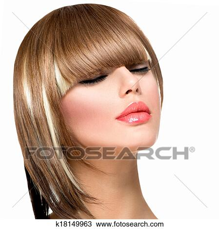 Stock Photo Of Beautiful Fashion Woman Hairstyle For Short Hair