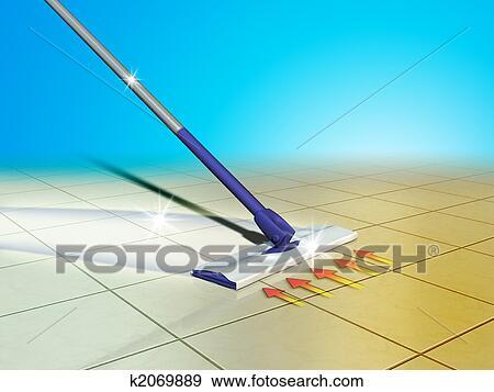 Stock Illustration Boden Putzen K2069889 Suche Clipart