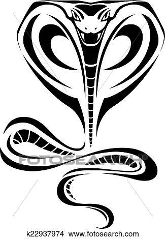 Dessin Cobra clipart - cobra, tatouage k22937974 - recherchez des clip arts, des